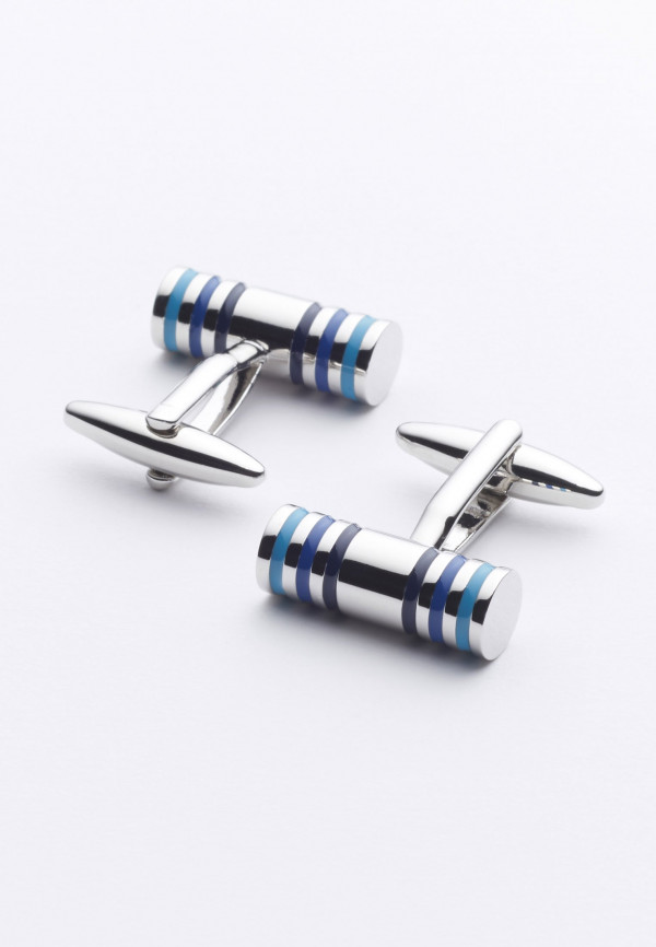 Barrel Chrome Cufflinks