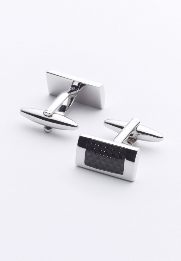 Black And Chrome Cufflinks