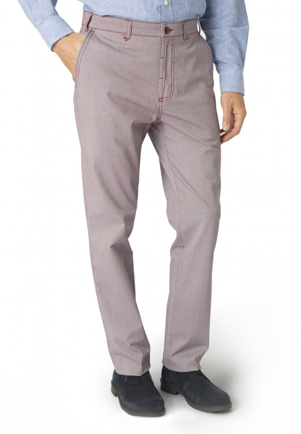 Lyme Burgundy Pinstripe Tailored Fit Trouser