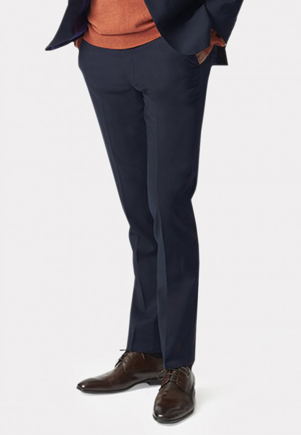 Navy Cassino Tailored Fit Washable Suit Trousers