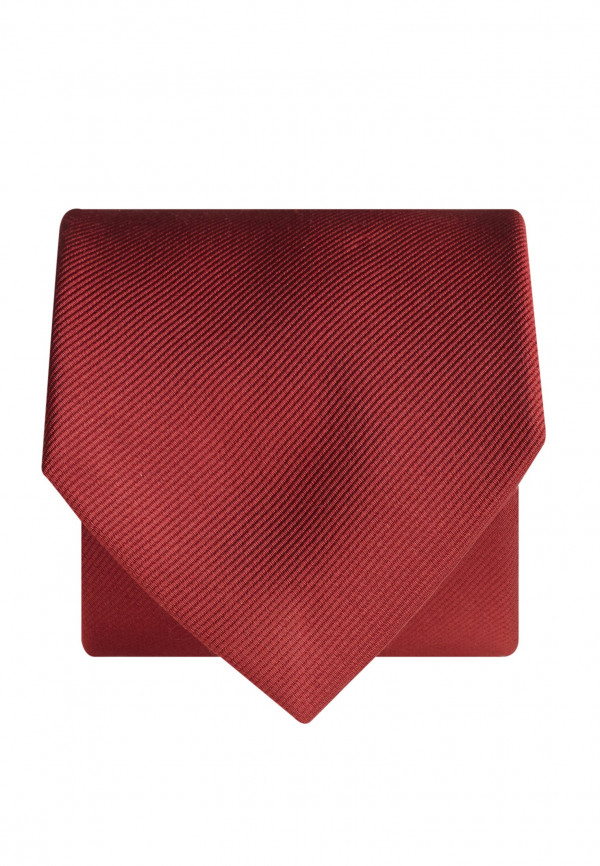 Plain Red Twill 100% Silk Tie