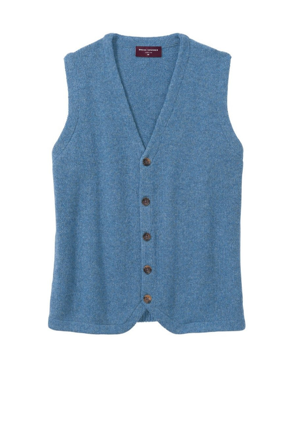 Wishaw Mid Blue Knitted Lambswool Waistcoat