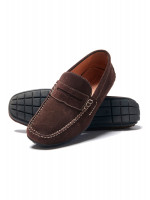 Sparks Brown Suede Moccasin With Rubber Sole