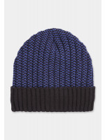 Navy and Blue Knitted Beanie