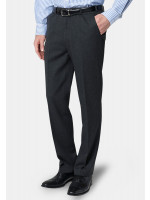 Olney Charcoal Flannel Trousers