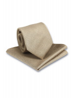 Plain Sand Hanky And Tie Set