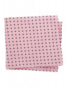 Pink With Navy Dot 100% Silk Pocket Square