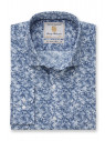 Tailored Fit Wedgewood Blue Floral Print Shirt