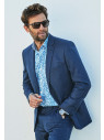 Clifford Navy Donegal Wool Suit Jacket