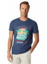 Wilton Denim-Blue Cuba Print T-Shirt