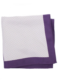 Purple Pattern 100% Silk Pocket Square