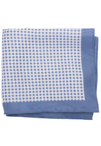 Blue Pattern 100% Silk Pocket Square