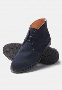 Augusta Navy Suede Chukka Boot With Rubber Sole