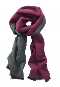 Wine and Charcoal Lightweight Scarf
