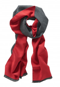 Red and Charcoal Lightweight Scarf