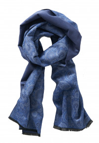 Paisley Mid Blue Scarf