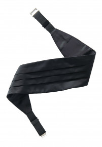 Plain Satin Black Cummerbund