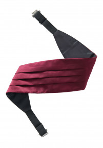 Plain Satin Wine Cummerbund