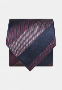 Blue Red and Pink Stripe Tie