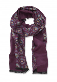 Wine with Medallion Design Scarf