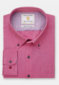 Classic and Tailored Fit Non-Iron Business Casual Rose Dobby Shirt