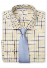 """33.5"""" Sleeve Corn With Navy, Blue And White Check Shirt"""