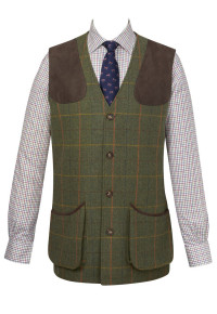 Burghley Tweed Shooting Gilet
