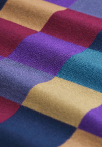 Double Faced Harlequin Check Scarf