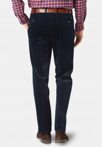 Navy Ellroy Cord Trousers