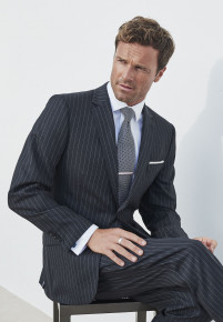 Epsom Grey Pinstripe Super 110's Suit
