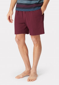 Hawes Wine Cotton Jersey Lounge Shorts