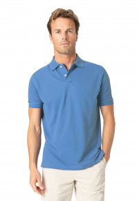 Milford Ocean 100% Pique Cotton Polo Shirt