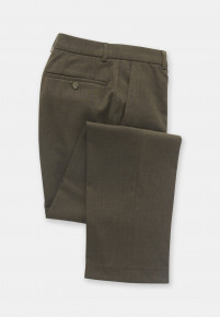 Olney Olive Flannel Trousers