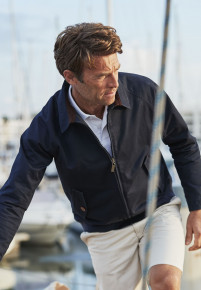 Willington Navy Harrington Casual Jacket