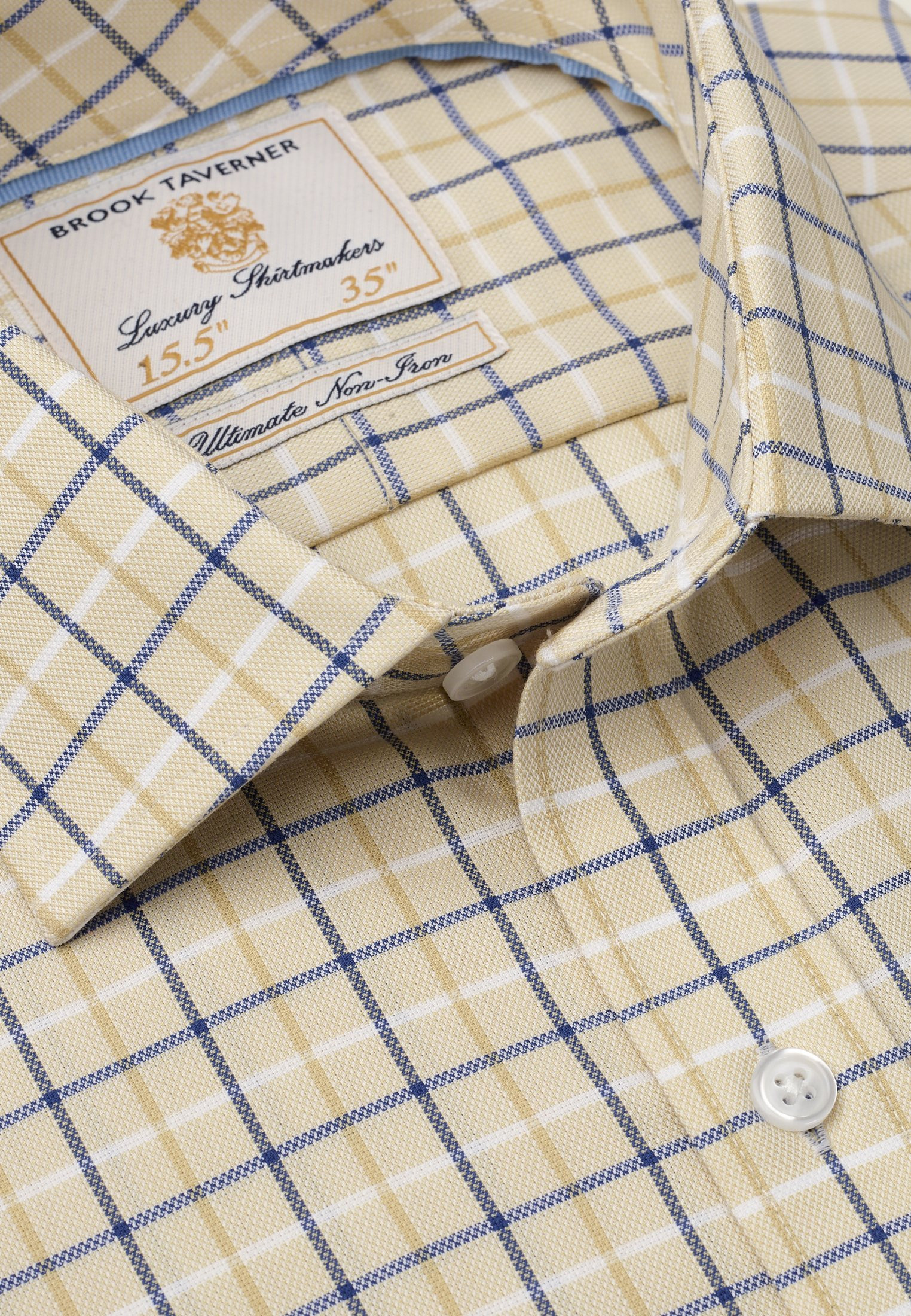 Corn With Navy, Blue And White Check Shirt