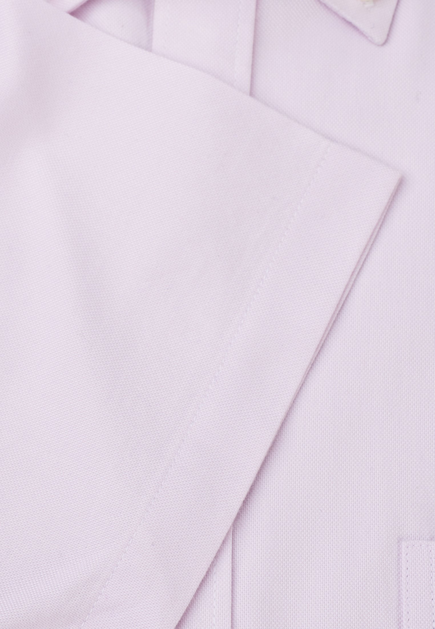 Long and Short Sleeve Classic and Tailored Fit Pink Oxford with Coloured Trim Shirt