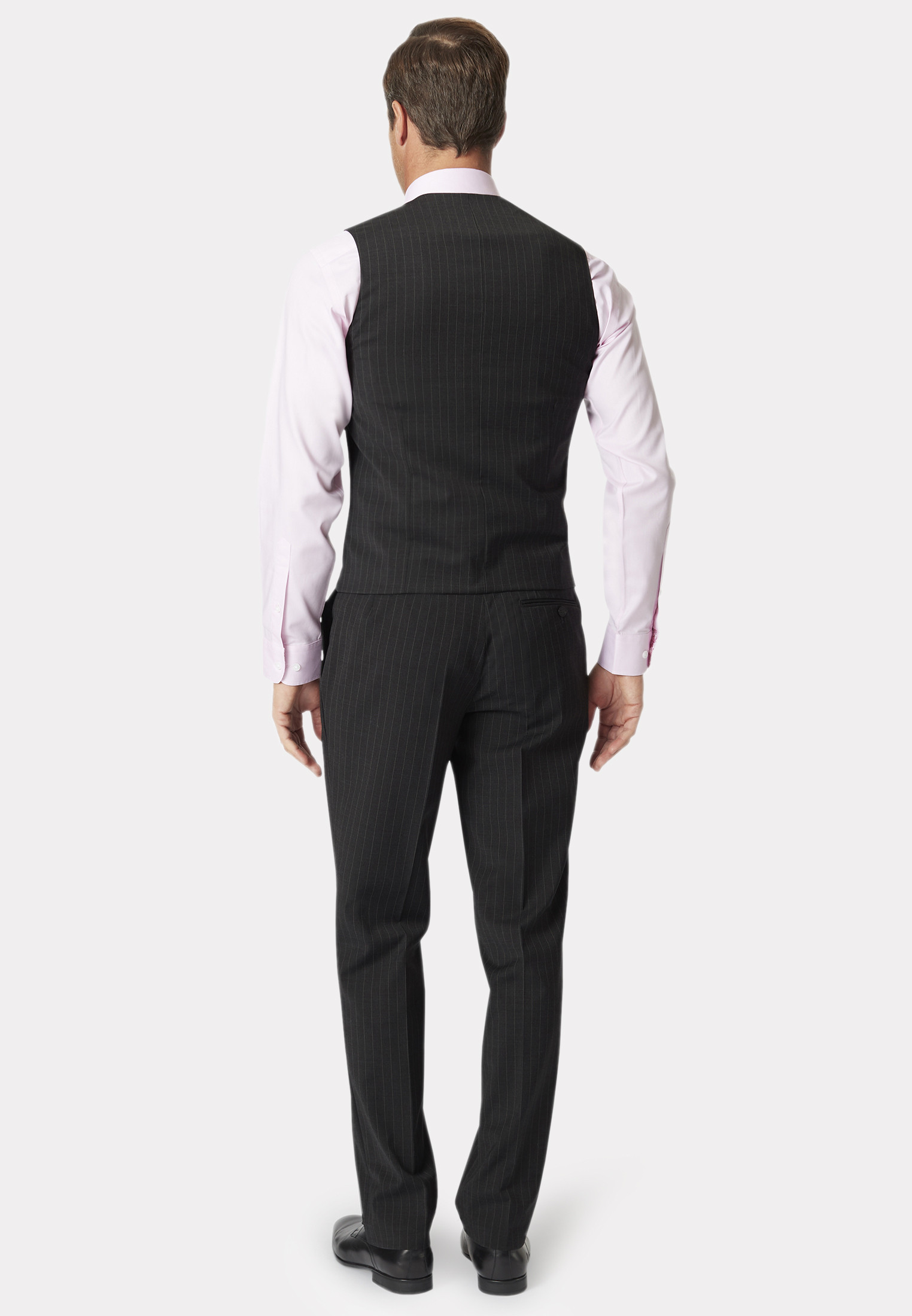 Charcoal Stripe Avalino Crease Resistant Washable Waistcoat