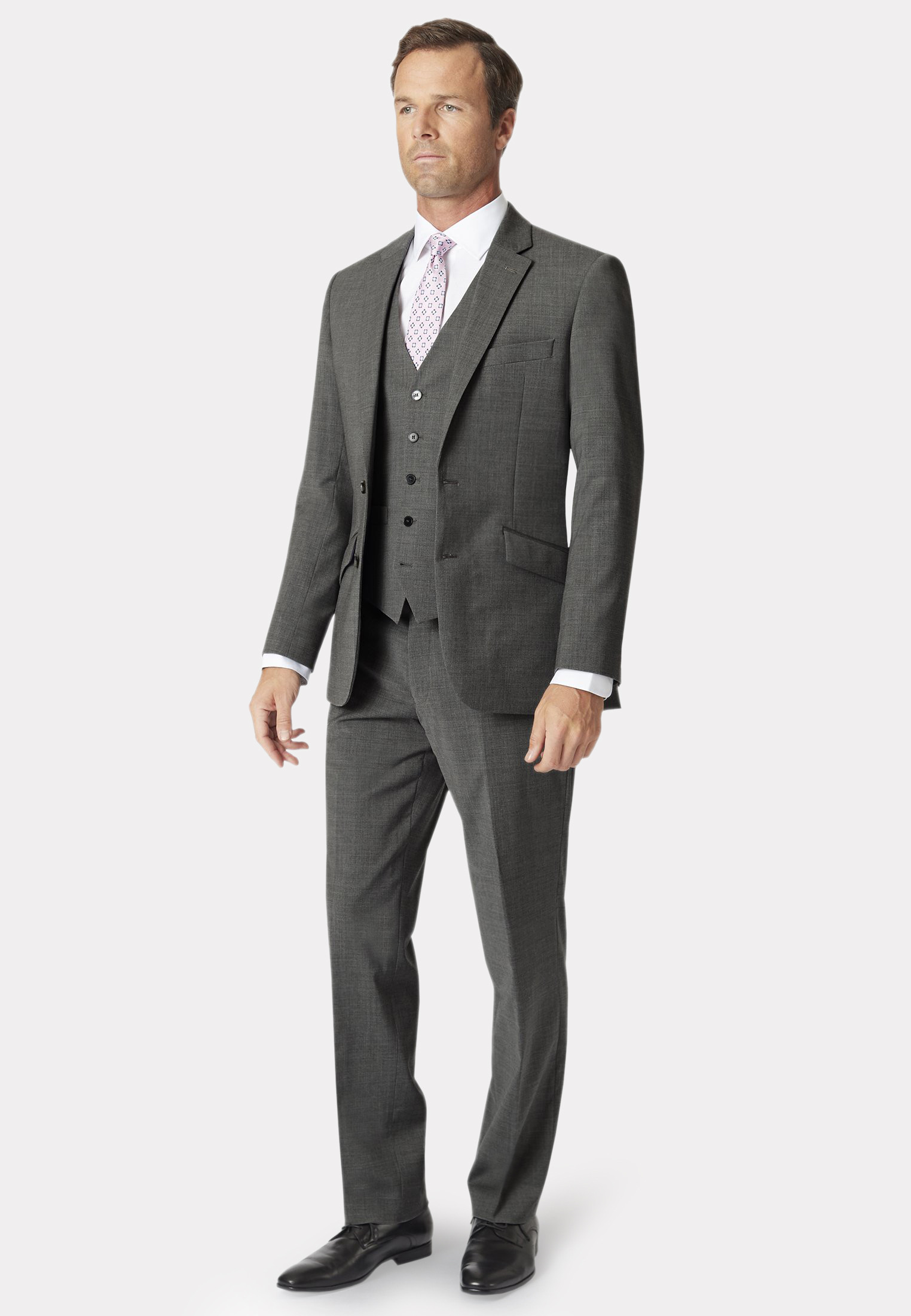 Avalino Grey Three Piece Travel Suit  - Waistcoat Optional