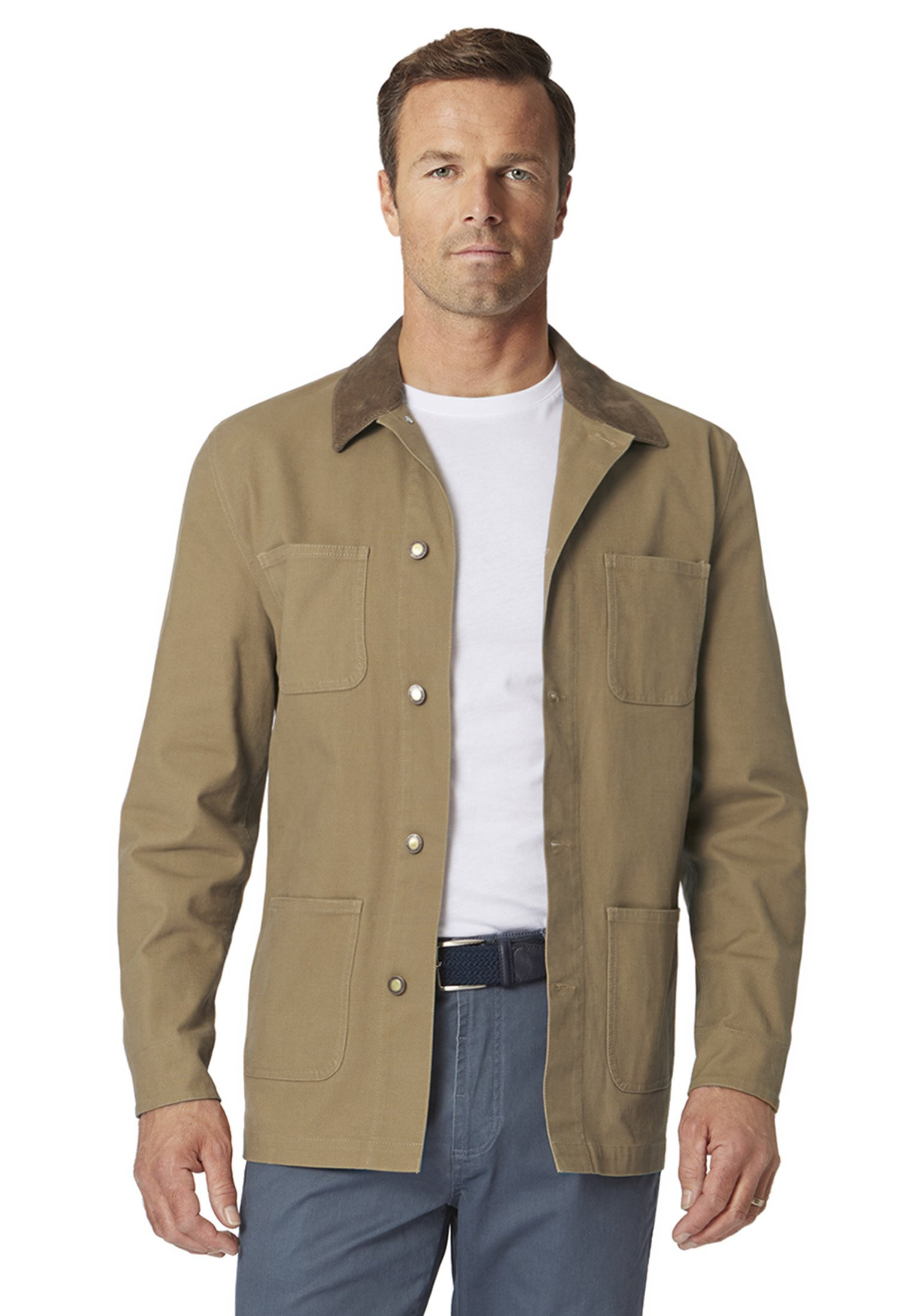 Beeton Unstructured Canvas Casual Jacket
