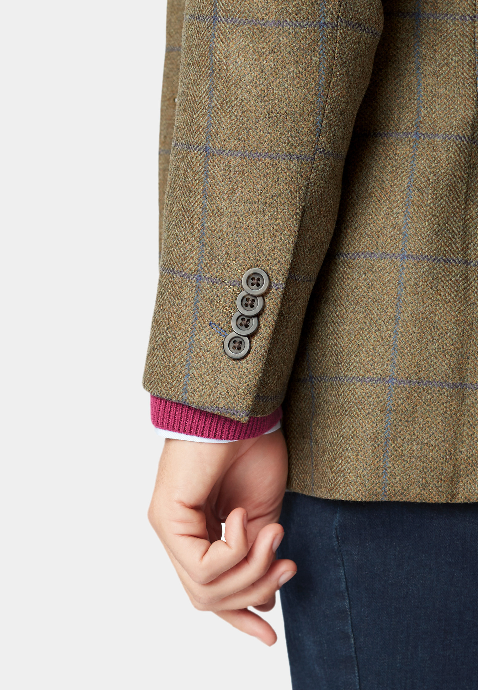Breedon Pure New Wool Check Jacket