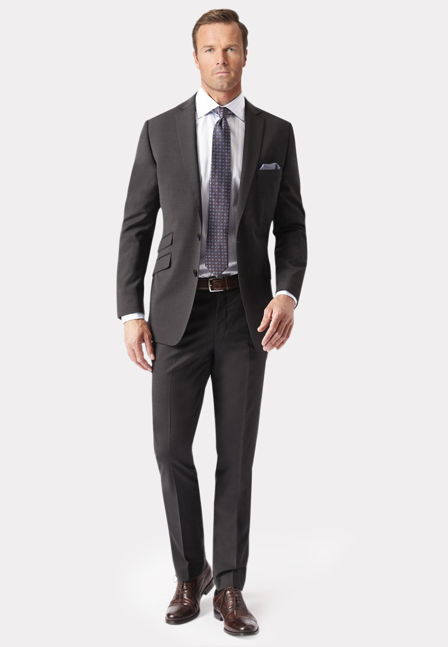 Cassino Charcoal Tailored Fit Washable Crease Resistant Suit