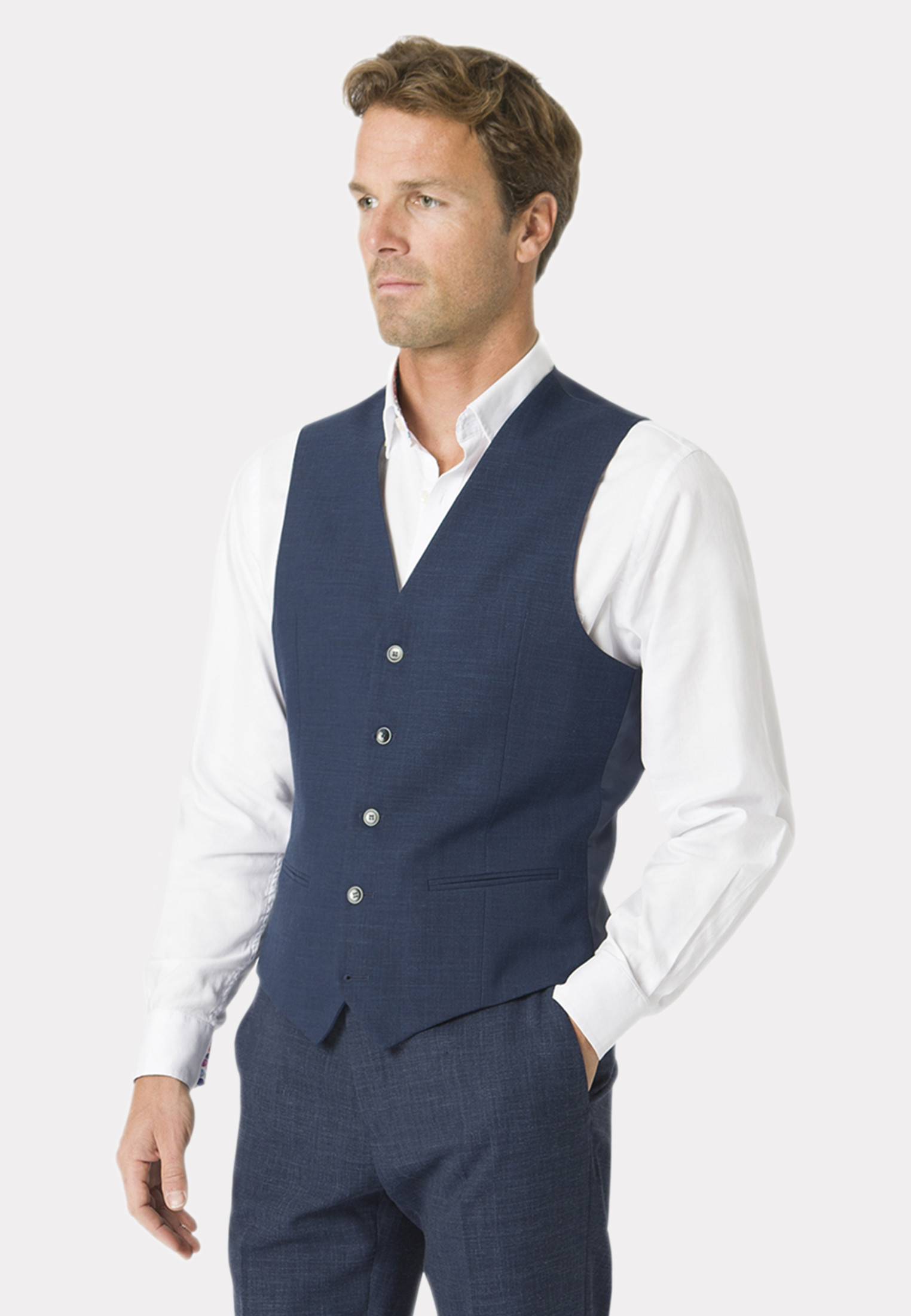 Constable Navy Tailored Fit Suit Waistcoat