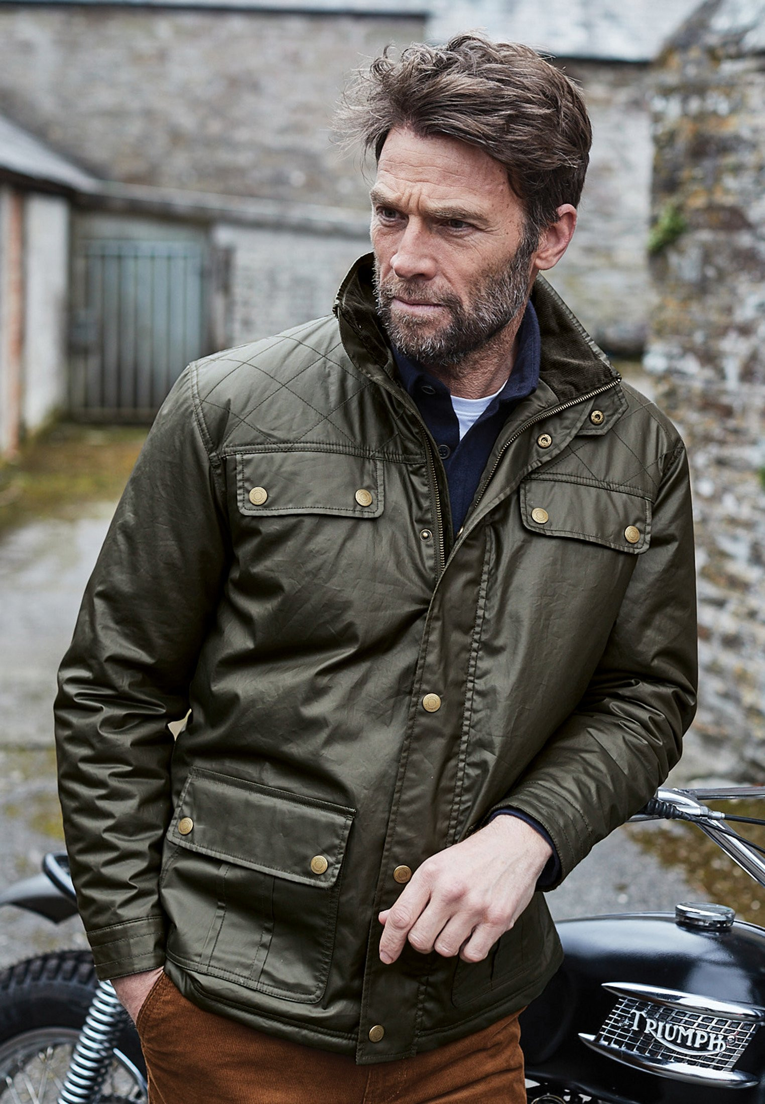 Garrido Olive Dry Wax Casual Jacket