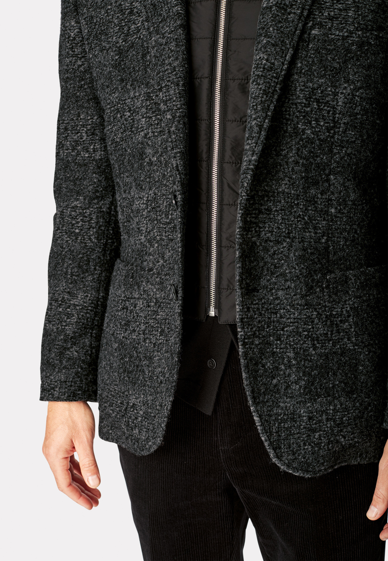 Ibiza Casual Unstructured Jacket - with Zip Out Mock Gilet