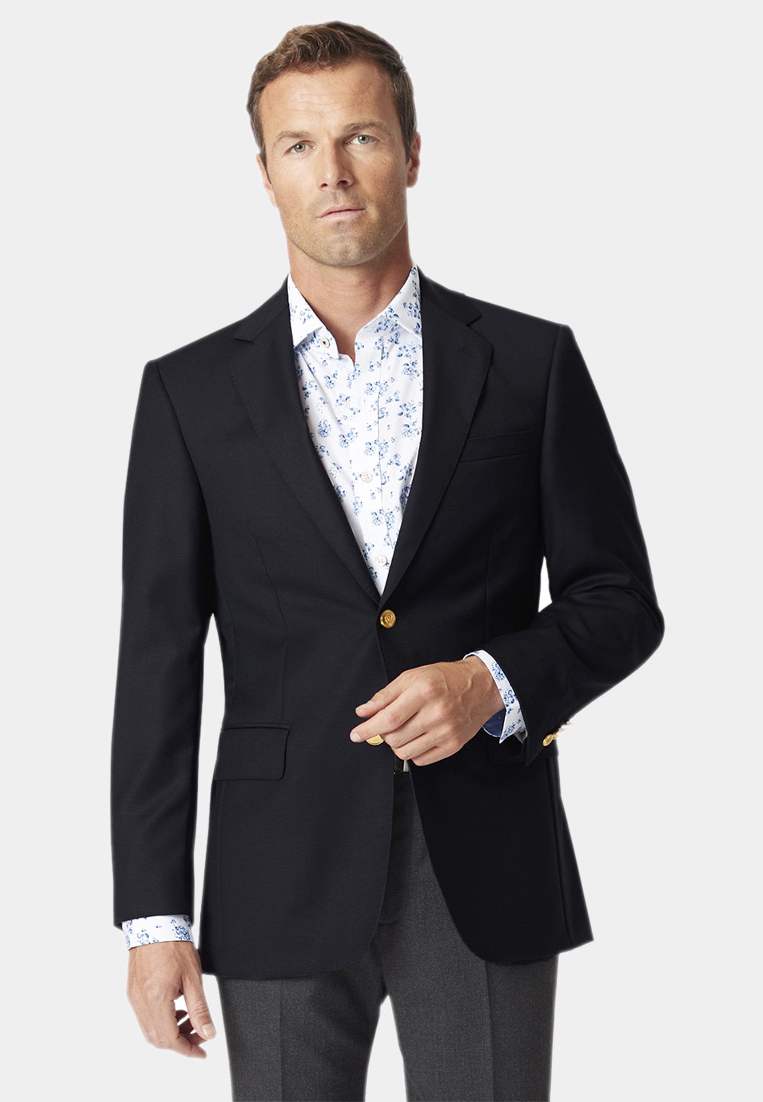Otley Navy Wool Blazer