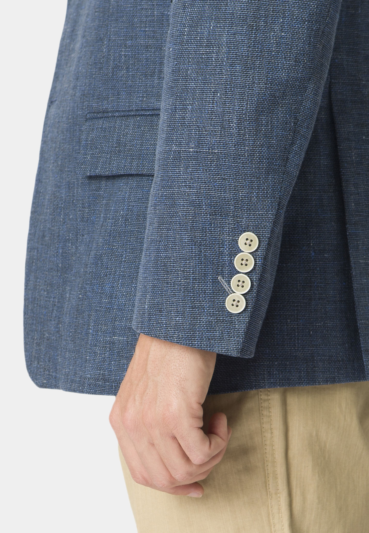 Westbury Blue Textured Weave Tailored Fit Jacket