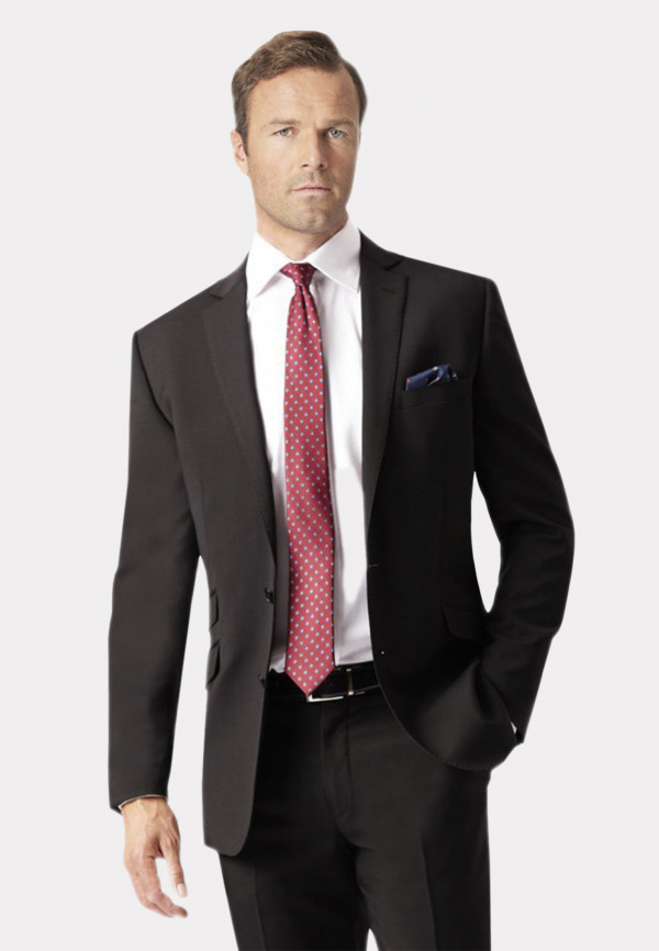 Black Cassino Tailored Fit Washable Suit Jacket