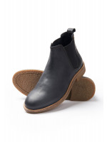 Floyd Black Chelsea Boot With Rubber Sole