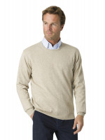 Aylsham Stone Luxury Cotton Merino Crew Neck Sweater