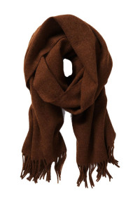 Plain Chocolate 100% Lambswool Scarf